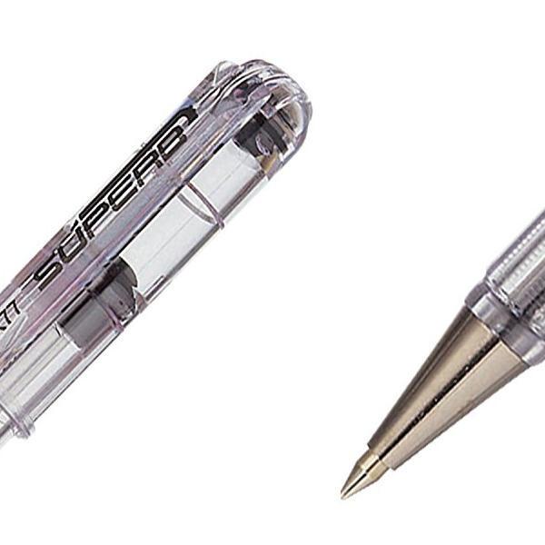 Pentel Superb Fine Ballpoint Black Pen (Pack of 12) BK77-A